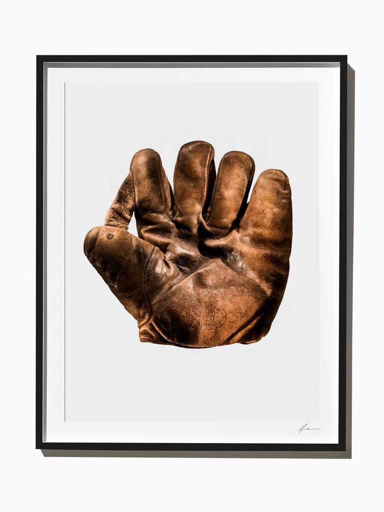Fine Art Print - J.A. Peach US Army Baseball Glove, Front View