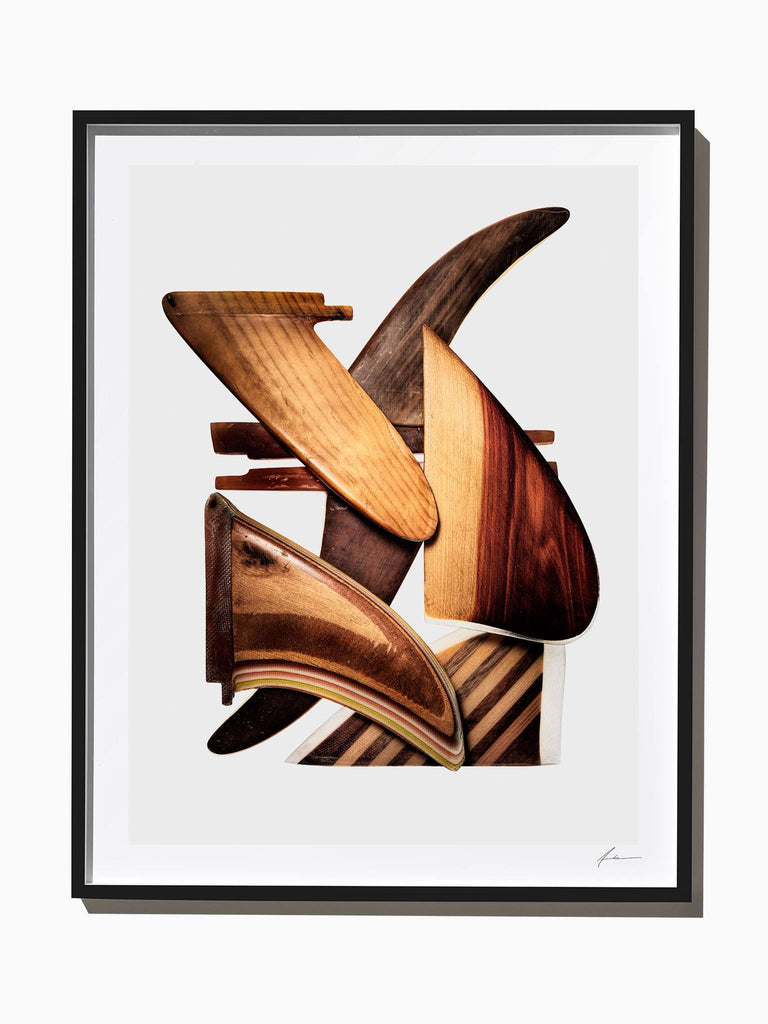 Fine Art Print - Wooden Surfboard Fins, Composition #1