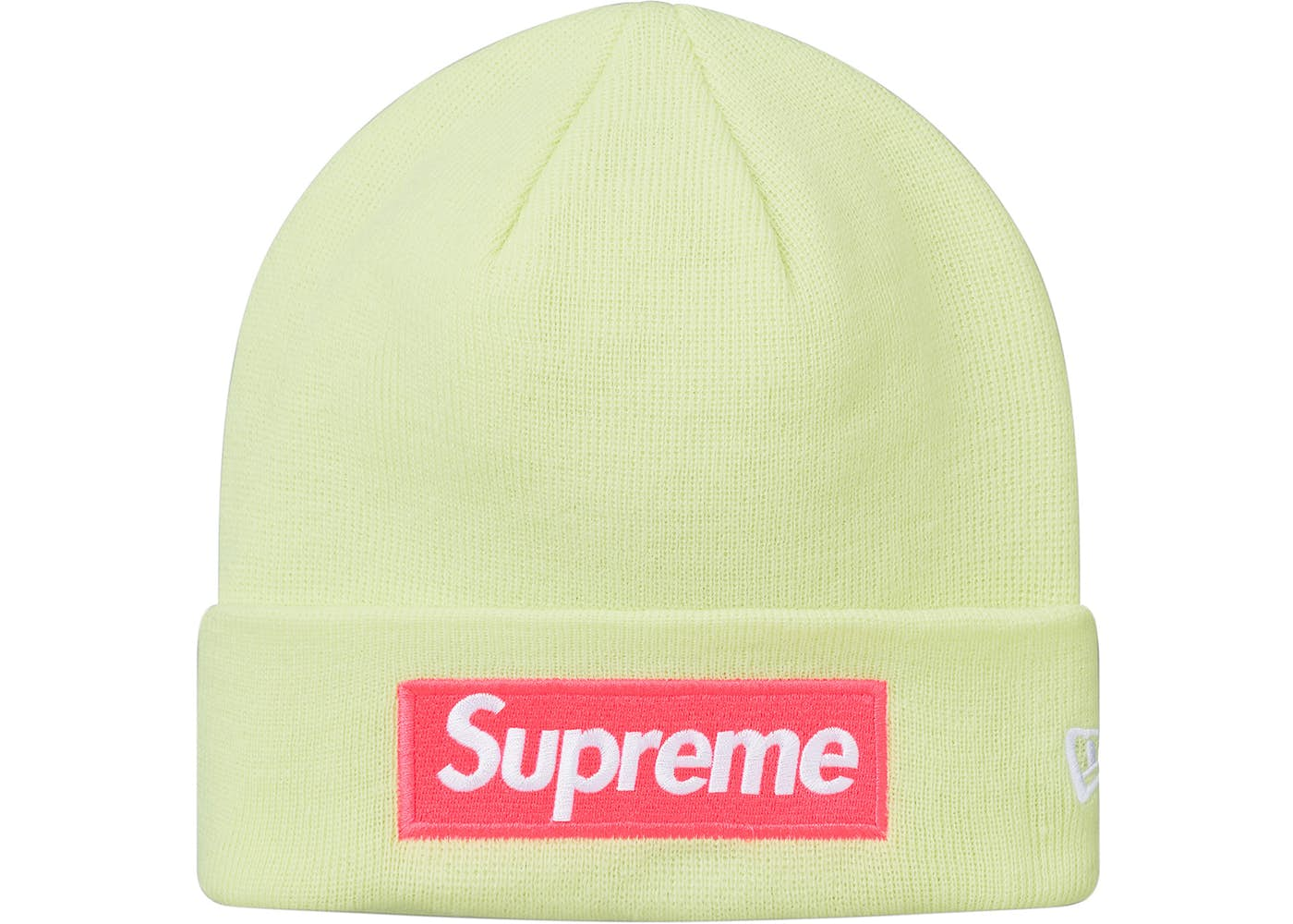 Supreme New Era Box Logo Beanie (FW17) Pale Lime – Halftime Sneakers ... 5379d7c93bc