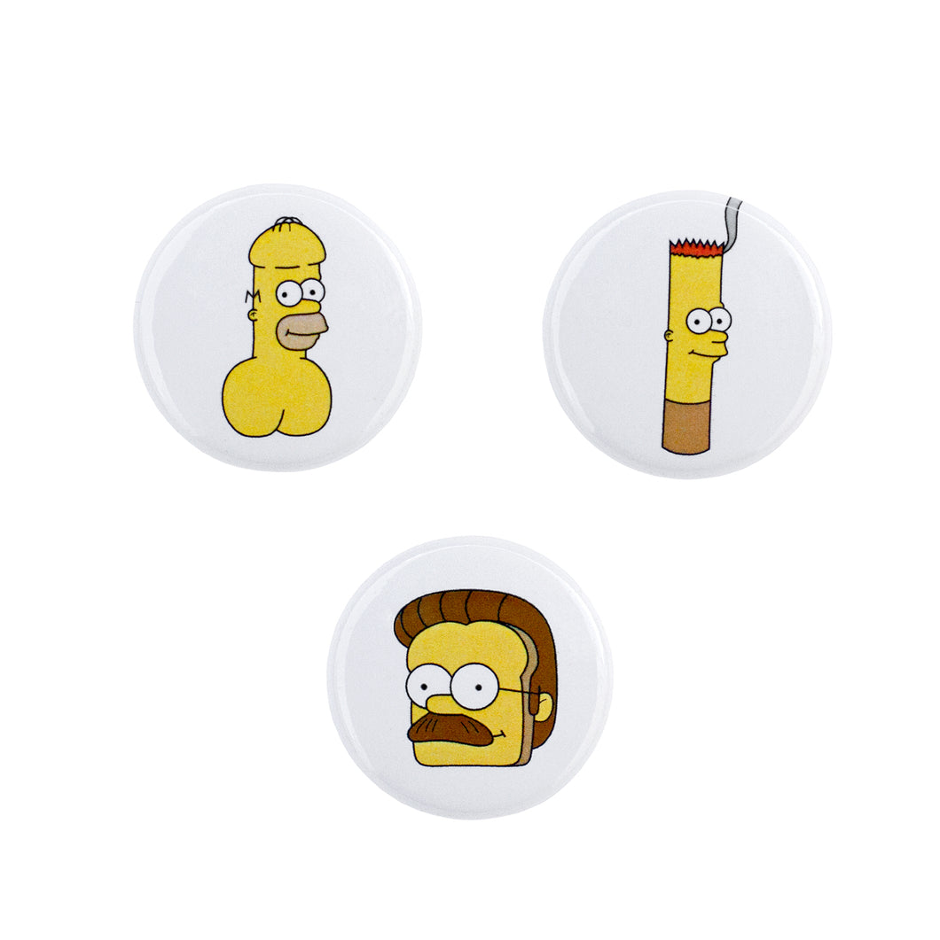 Simpsons Puns Pin Pack