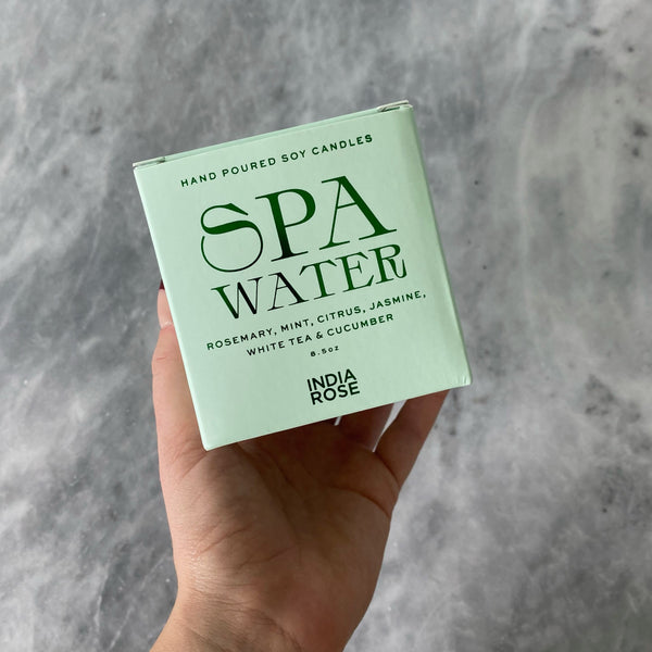 Spa Water Candle