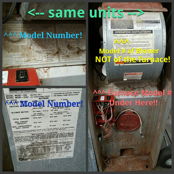 Finding A Model Number Model Number Furnace A C Unit
