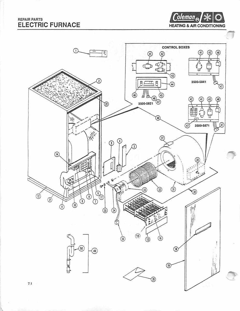 3500a816 Wiring Diagram Layout Diagrams International Scout Schematic Coleman Electric Furnace Parts Hvacpartstore Rh Myshopify Com Blower Older