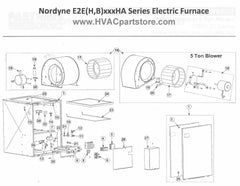 E2EH023HB Nordyne Electric Furnace Parts