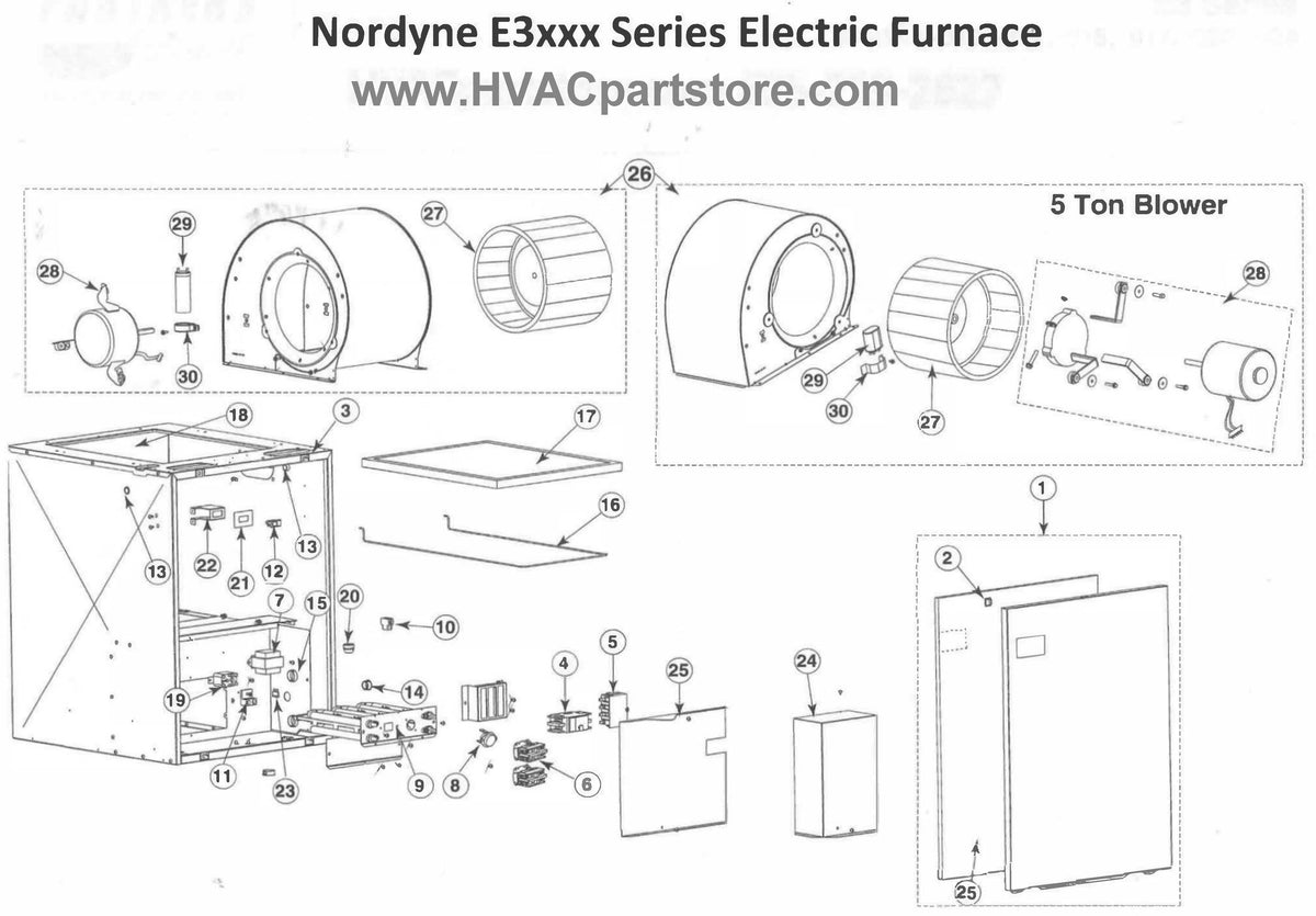 e3023 nordyne electric furnace parts  u2013 hvacpartstore