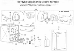 E3020 Nordyne Electric Furnace Parts