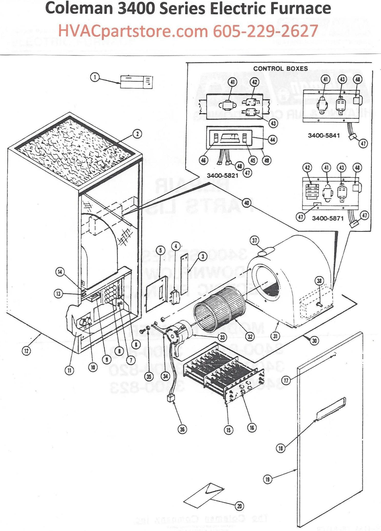 3400 818 coleman electric furnace parts hvacpartstore click here to view an installation manual which includes wiring diagrams