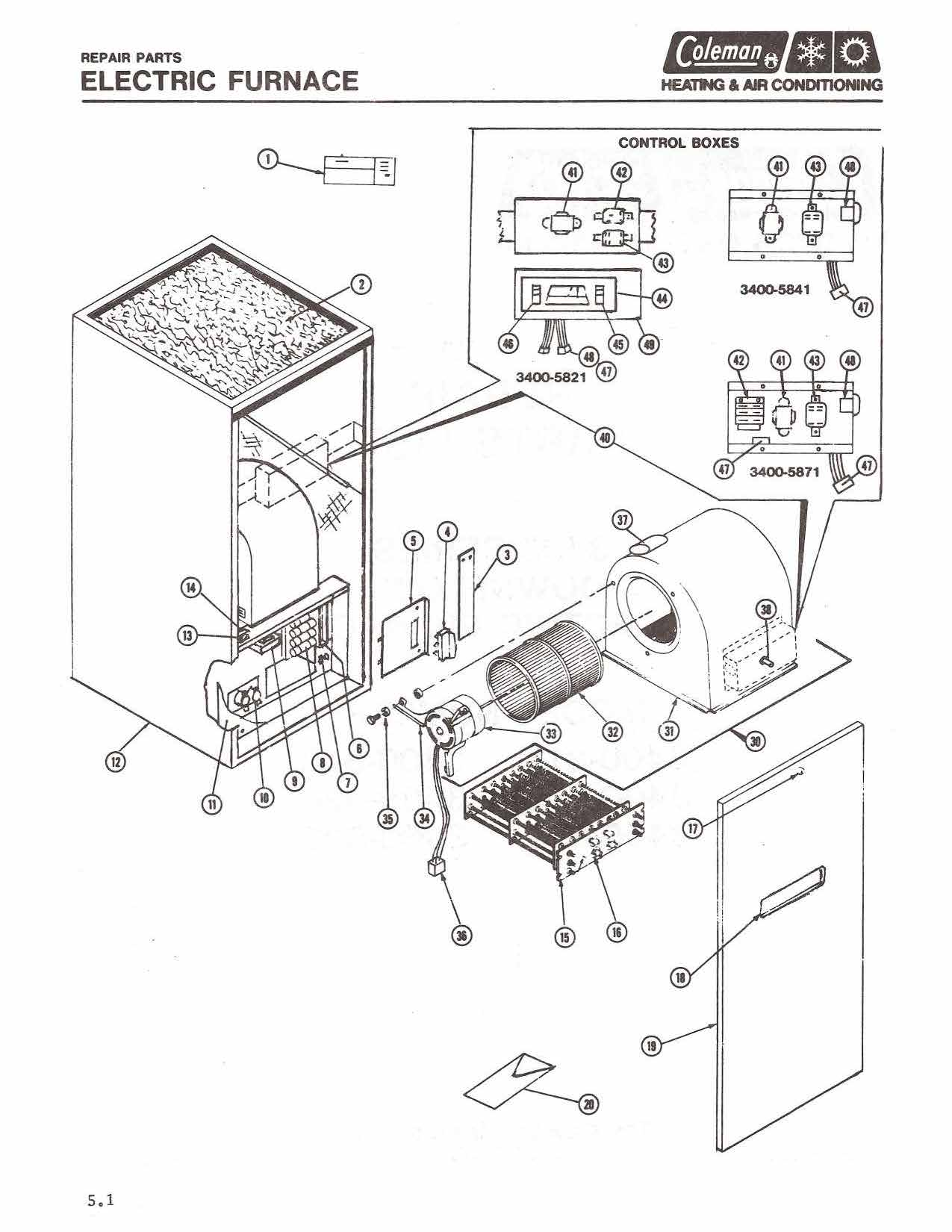 Coleman Electric Furnace Wiring Diagram : Old Oil Furnace
