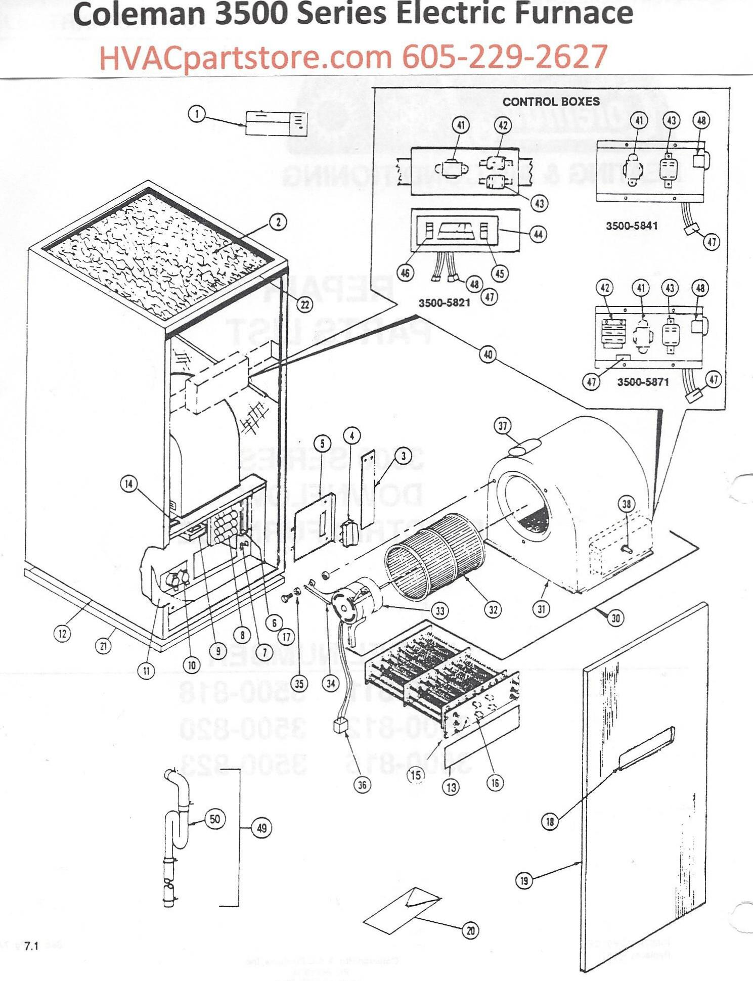 coleman furnace thermostat wiring diagram 3500-811 coleman electric furnace parts – hvacpartstore duo therm rv furnace thermostat wiring diagram ac #13