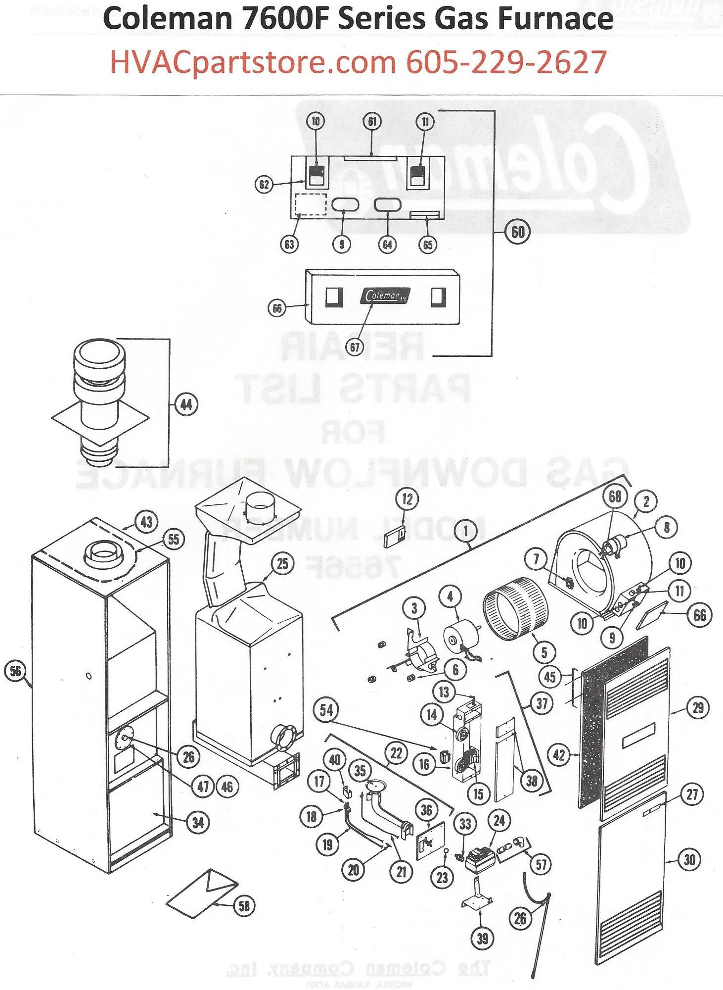 7656f856 coleman gas furnace parts  u2013 hvacpartstore
