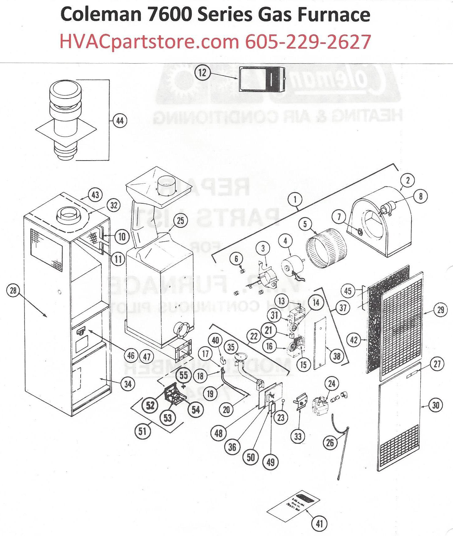 Coleman Wiring Diagram 7600 Series Great Installation Of Manufactured Home Furnace 7624 856 Gas Parts Hvacpartstore Rh Myshopify Com