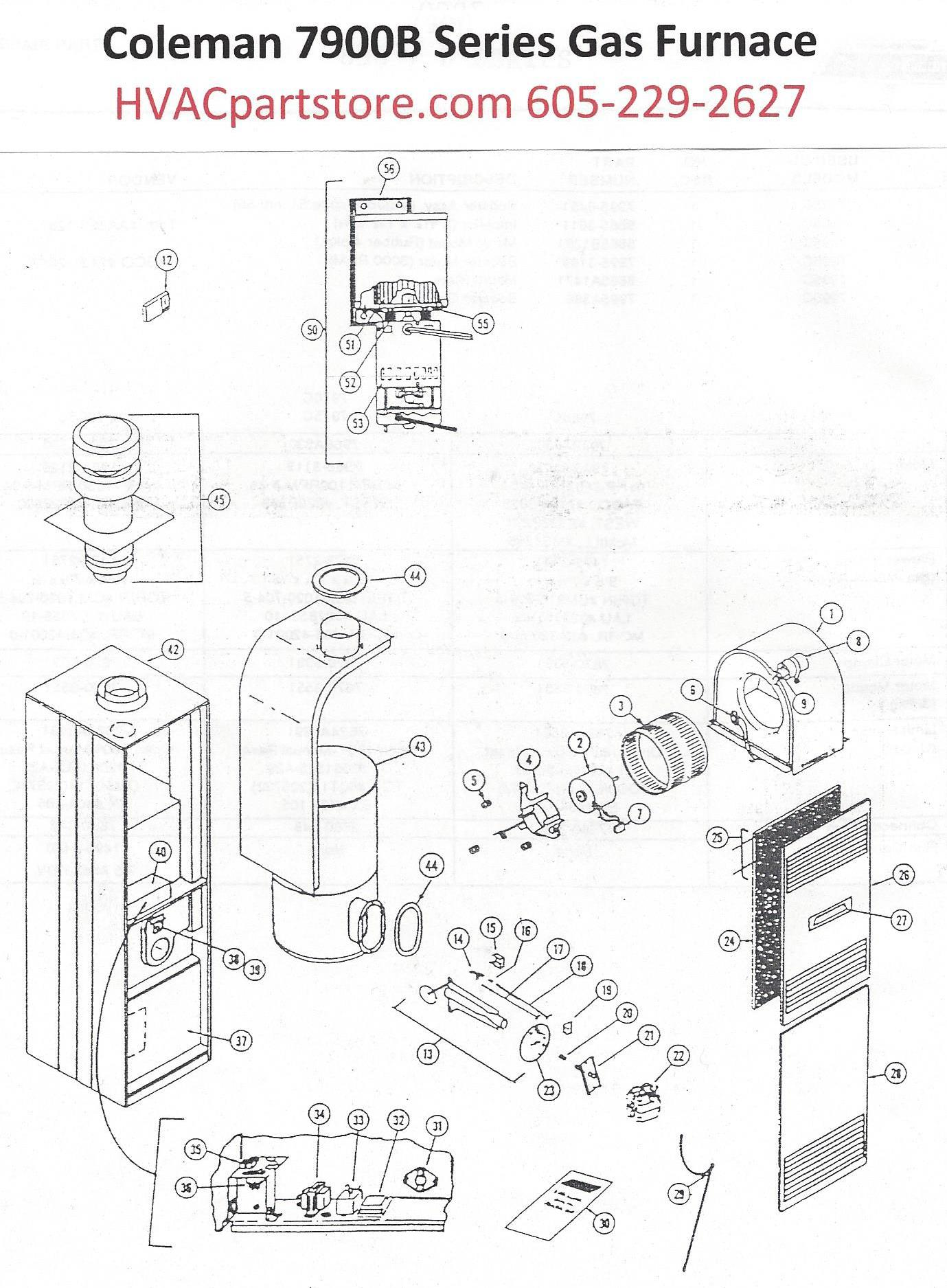 7970B856 Coleman Gas Furnace Parts – Page 2