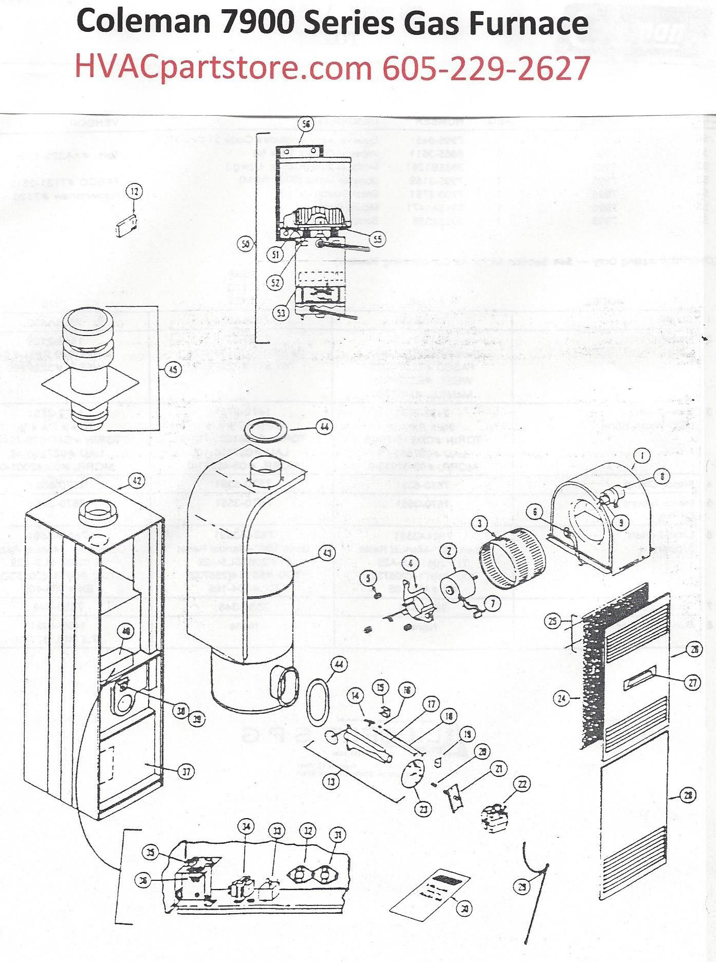 wiring diagram for coleman furnace the wiring diagram 7956 856 coleman gas furnace parts hvacpartstore wiring diagram