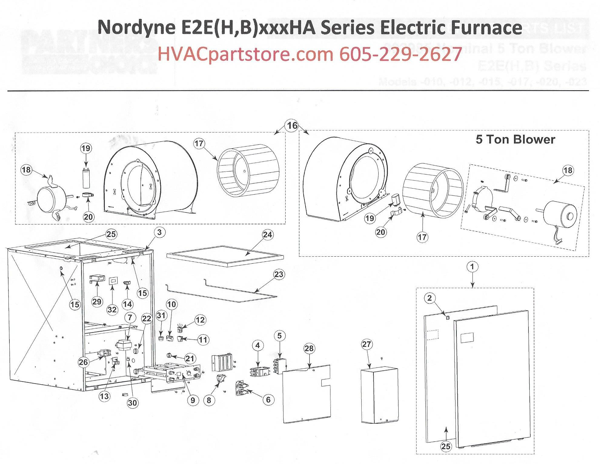 E2eb017ha Nordyne Electric Furnace Parts Hvacpartstore