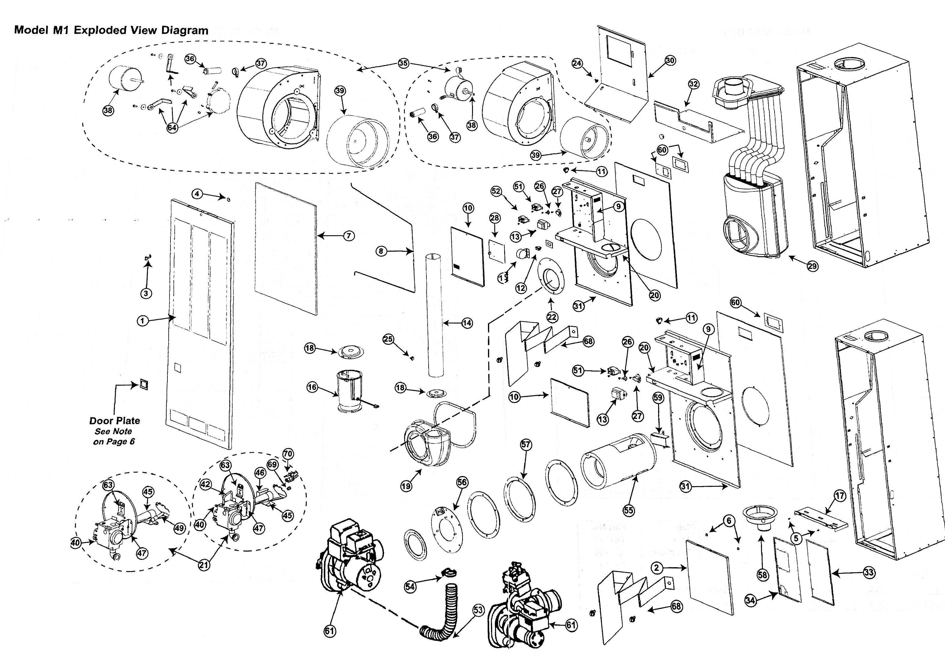 Coleman Gas Furnace Diagram Exploded Detailed Schematic Diagrams Wall Wiring M1gd070 Nordyne Parts Tagged Hvacpartstore Electrical