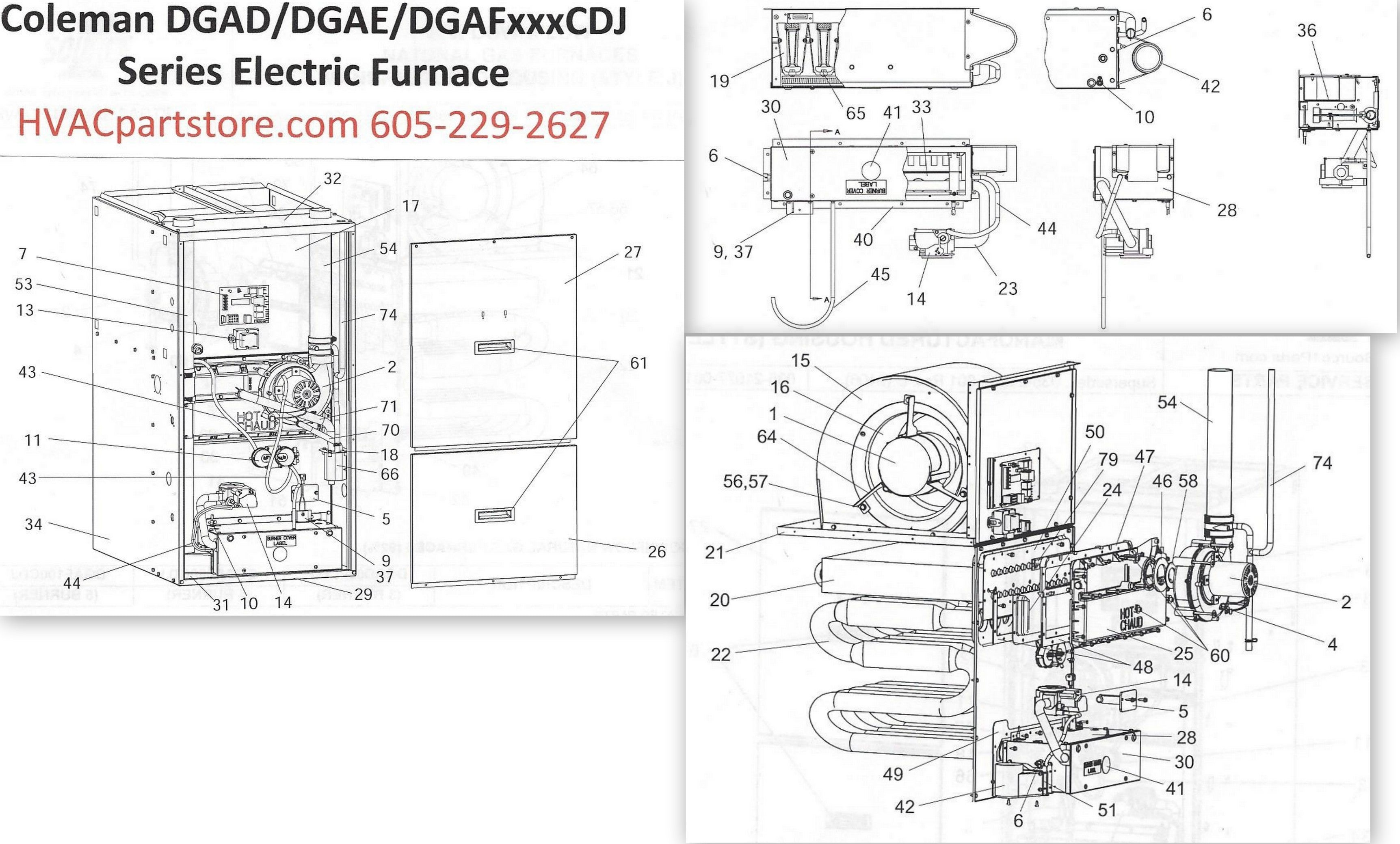 coleman mobile home gas furnace wiring diagram dgae080cdj coleman gas furnace parts – hvacpartstore #11