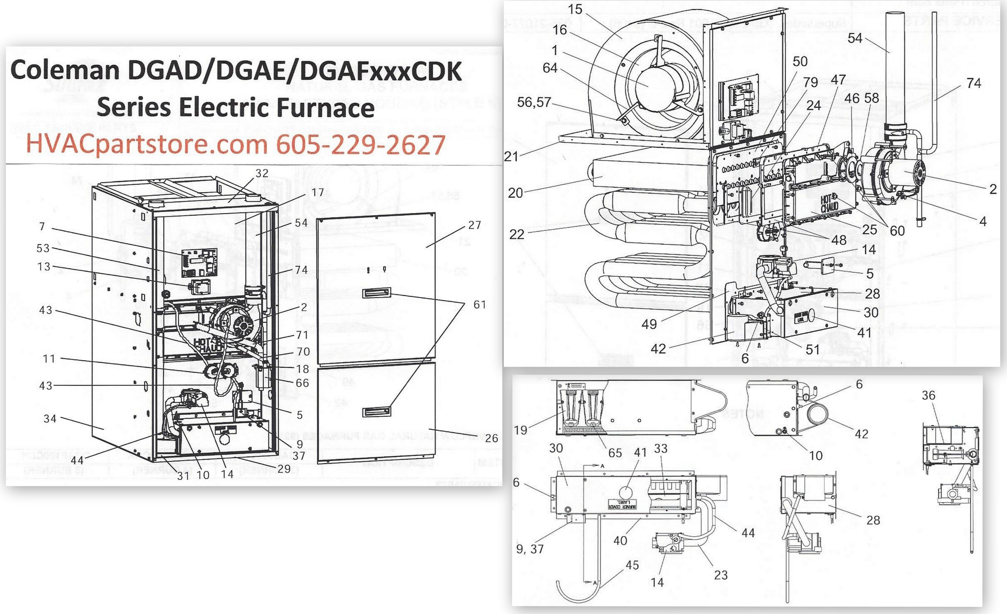 dgad060cdk coleman gas furnace parts hvacpartstore