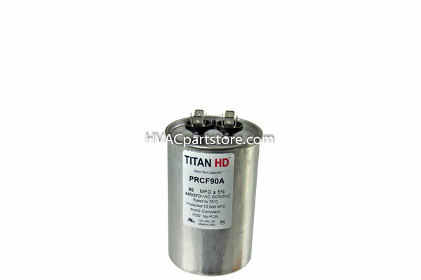 High quality metal round run capacitor 90 MFD 370-440V USA Made