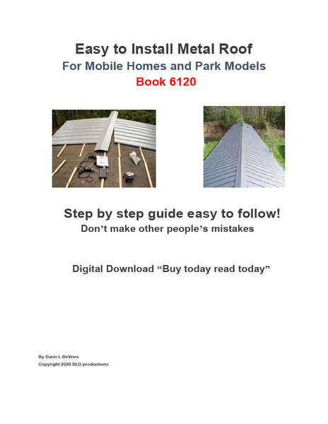 Easy to Install Metal Roof Step by Step Guide Book 6120 Digital Download