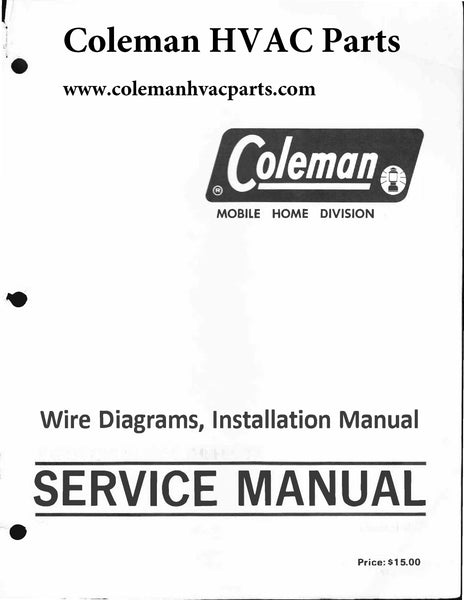 Coleman Series 7600, 7700 Wire Diagram / Parts manual/ Helpful user guide (Download)
