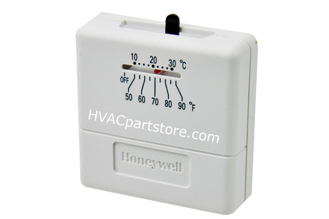 750MV analog heat-only thermostat with shutoff switch TS812A1007
