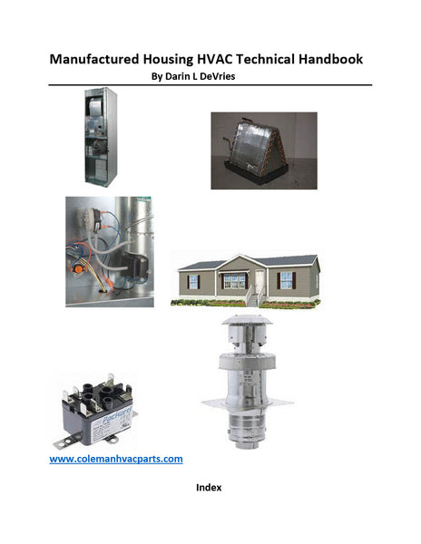 Manufactured Housing HVAC Technical Handbook Digital Download Book 6006