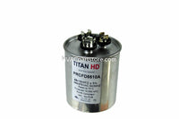 dual round metal run usa made capacitor 370-440v high quality 55+10 mfd metal