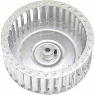 3.81 x 2.50 x 5/16 CCW single inlet metal blower wheel.