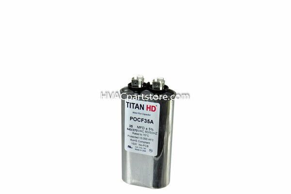 run capacitor 35 MFD 370-440V oval high quality metal