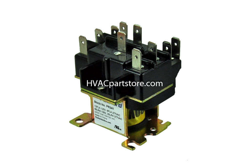 pr341 packard switching relay 110 120 coil voltage hvacpartstore Car Relay Diagram 90 341 relay switch wiring diagram