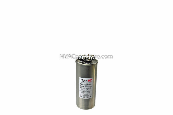 dual round metal run capacitor 25+15 MFD 370-440V