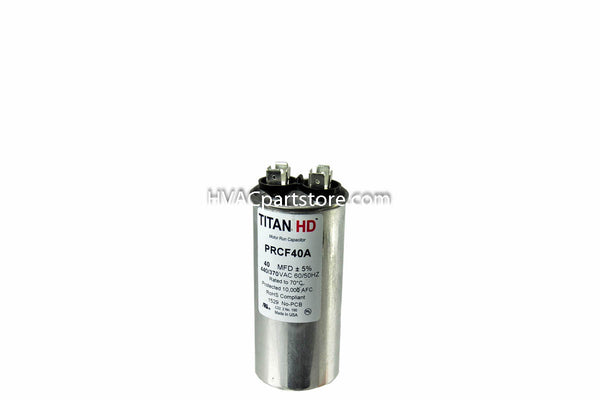 Round high quality metal run capacitor 40 MFD 370-440V