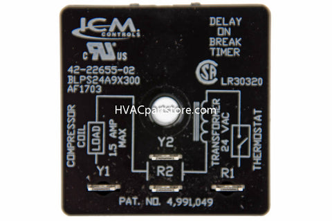 yhst 130159302524877_2269_36387102_large?v=1450987289 42 22655 02 rheem 5 minute time delay relay hvacpartstore delay on break timer wiring diagram at edmiracle.co