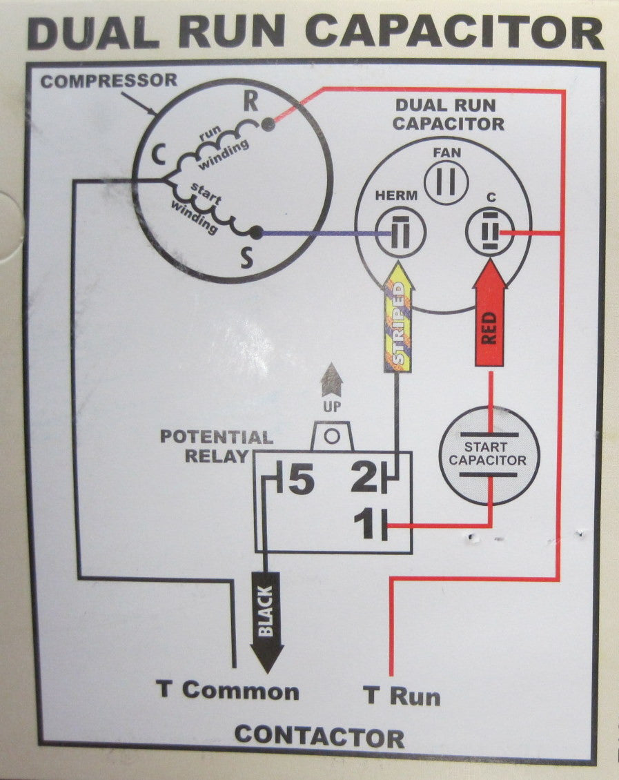 hard start kit wiring diagram goodman hard start capacitor wiring diagram