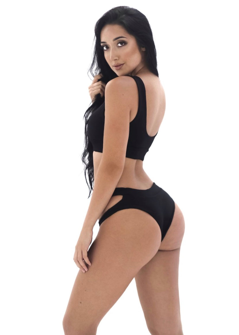 Brandi Bottom | Black - Mahina Swimwear