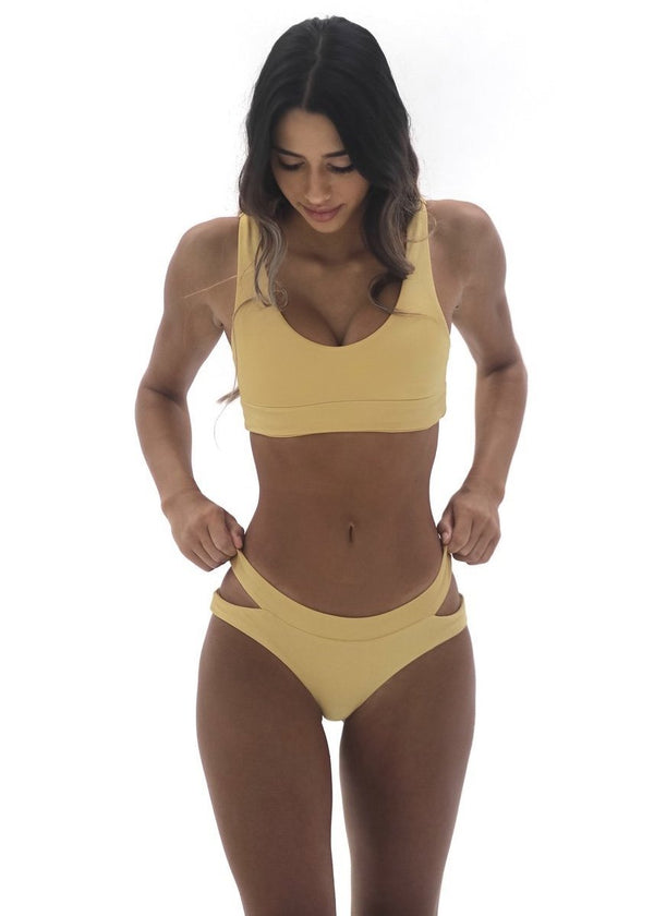 Aria Top | Golden Yellow - Mahina Swimwear