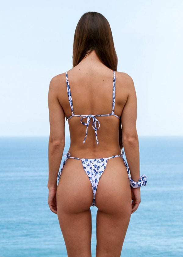 Atlas Triangle Top | Butterfly Print - Mahina Swimwear