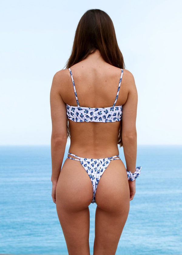 Bliss Top | Butterfly Print - Mahina Swimwear
