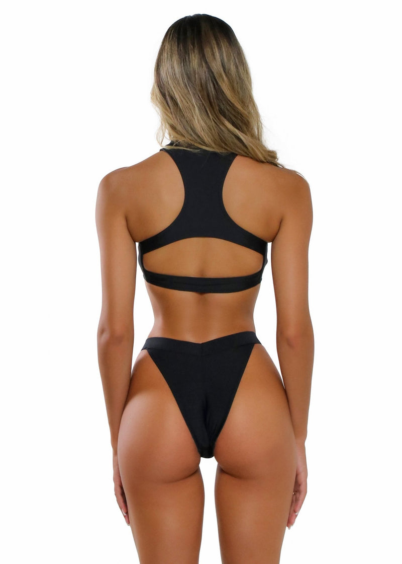 Gia Bottom | Black - Mahina Swimwear