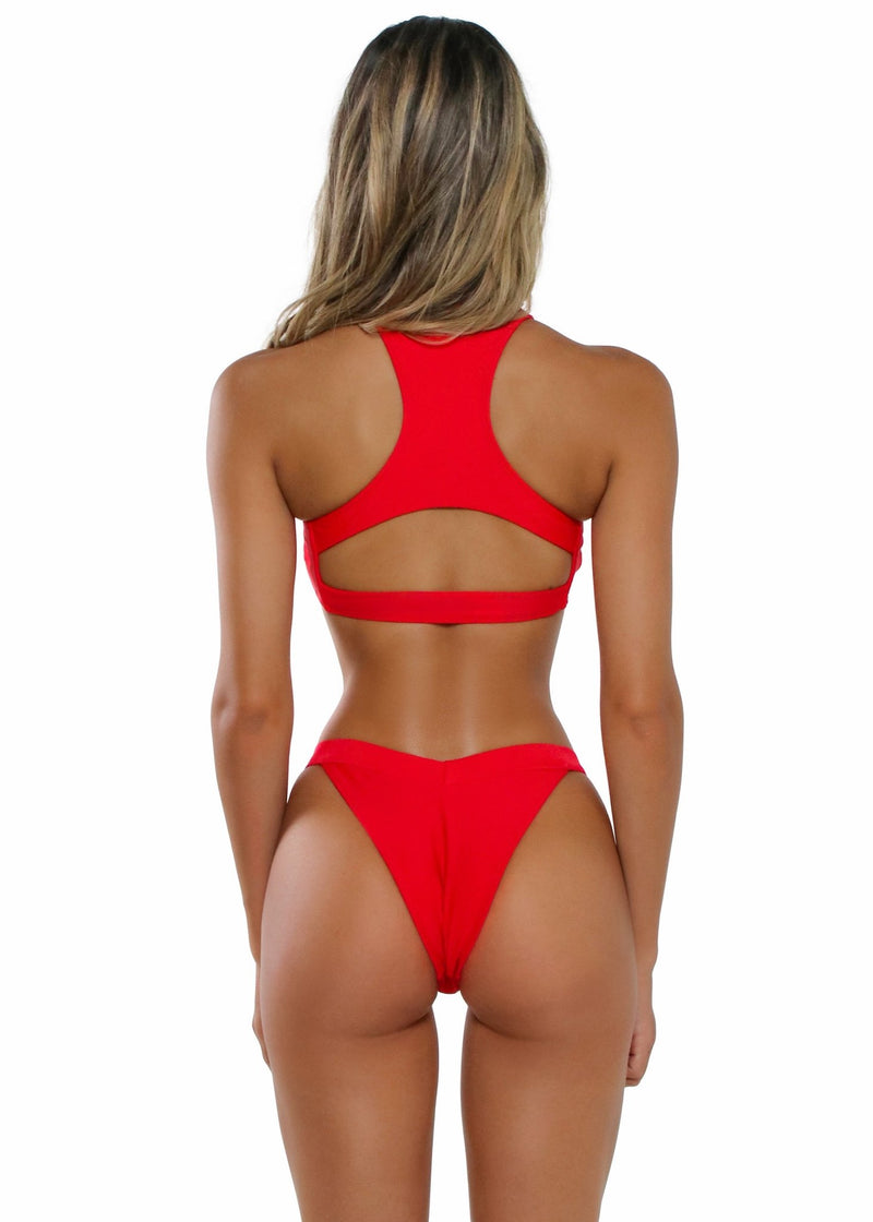 Gia Bottom | Red - Mahina Swimwear