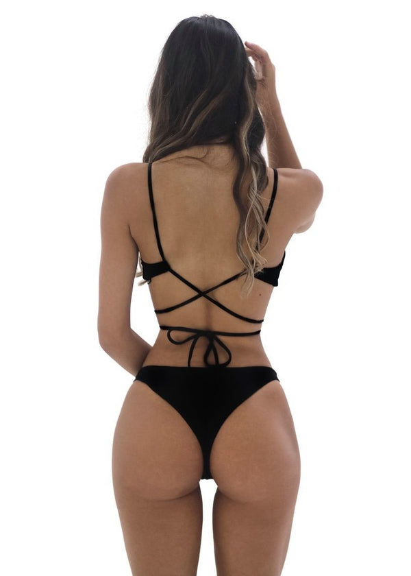 Kiera Bottom | Black - Mahina Swimwear