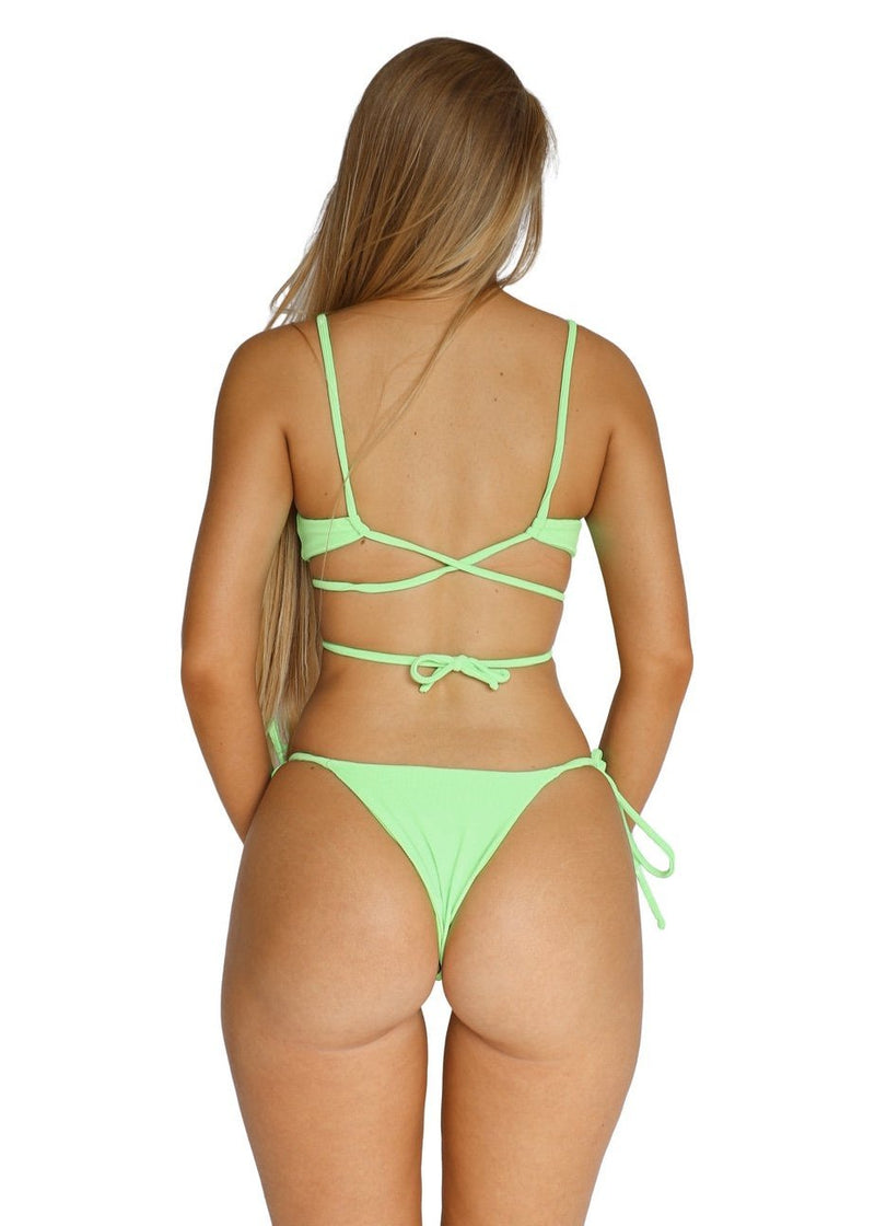 Maxine Top | Acid Green - Mahina Swimwear