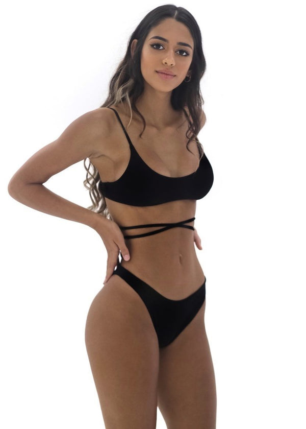 Maxine Top | Black - Mahina Swimwear