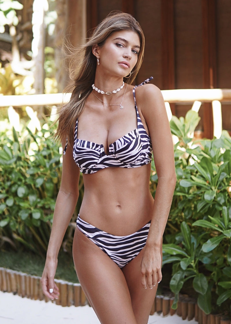 Piper Top | Zebra Print - Mahina Swimwear