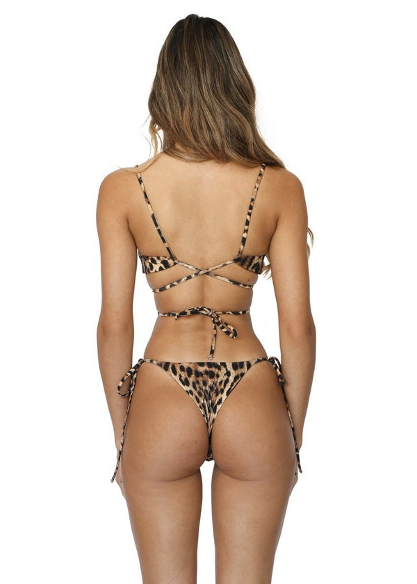 Skye Bottom | Sinai Cheetah - Mahina Swimwear