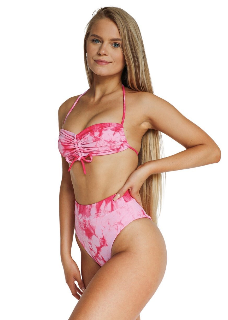 Sofia Bottom | Pink Tie Dye - Mahina Swimwear