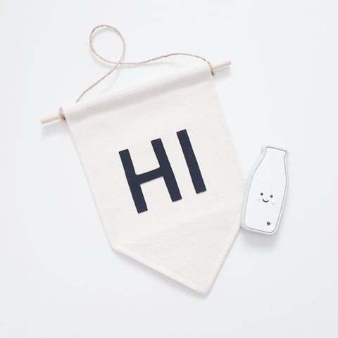 Canvas Hi Banner - perfect decor for just about anywhere.