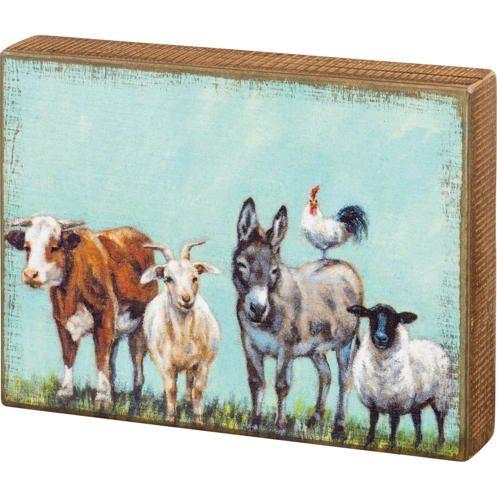 Farm Family Wood Box Art