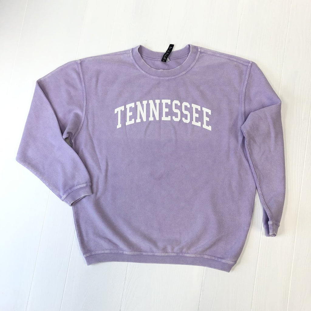Lilac TENNESSEE Corded Sweatshirt (White/Arc) CAD