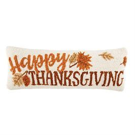 Happy Thanksgiving Hooked Pillow